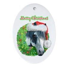 Merry Christmas Ziggy Oval Ornament