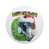 Happy Holidays Ziggy Ornament (Round)