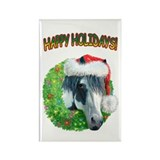 Happy Holidays Ziggy Rectangle Magnet