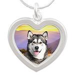 Malamute Meadow Silver Heart Necklace