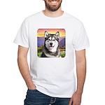 Malamute Meadow White T-Shirt
