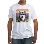 Malamute Meadow Fitted T-Shirt