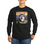 Malamute Meadow Long Sleeve Dark T-Shirt