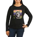 Malamute Meadow Women's Long Sleeve Dark T-Shirt