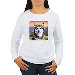 Malamute Meadow Women's Long Sleeve T-Shirt