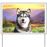 Malamute Meadow Yard Sign