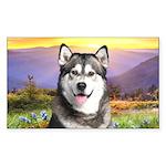 Malamute Meadow Sticker (Rectangle 50 pk)