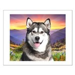 Malamute Meadow Small Poster
