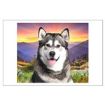 Malamute Meadow Large Poster