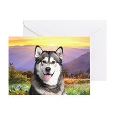 Malamute Meadow Greeting Card