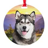 Malamute Meadow Ornament