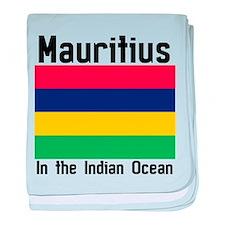 Mauritius Flag baby blanket