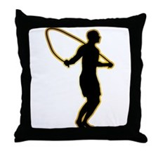 Rope Jumping Throw Pillow