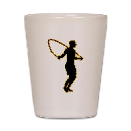 Rope Jumping Shot Glass