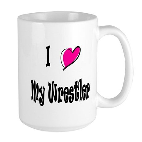 I Love My Wrestler Ravie Large Mug