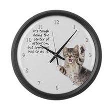 Kitten Large Wall Clock