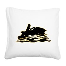 Jet-Skiing Square Canvas Pillow