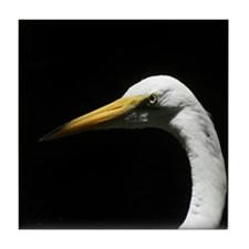 Great White Egret Tile Coaster