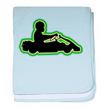 Go-Karting baby blanket