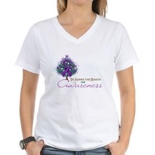 Purple Ribbon Xmas Tree Shirt