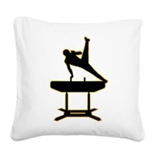 Gymnastic - Pommel Horse Square Canvas Pillow