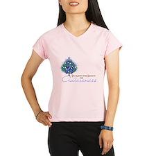 Periwinkle Ribbon Xmas Tree Performance Dry T-Shir