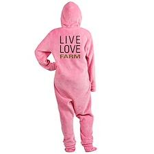 Live Love Farm Footed Pajamas