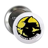 Witchy Woman (Yellow) 2.25&quot; Button (100 pack)