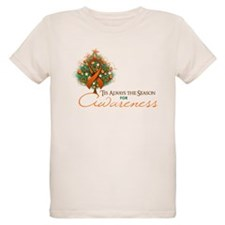 Orange Ribbon Xmas Tree T-Shirt