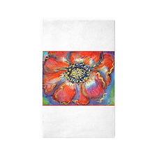 Poppy! Red Flower! Art! 3'x5' Area Rug