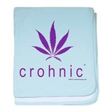crohnic™ Logo t-shirt - Light Colors baby blanket
