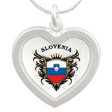 Slovenia Silver Heart Necklace