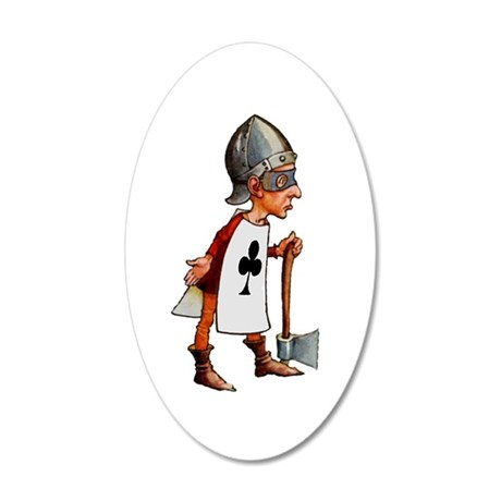 The Queen's Executioner 35x21 Oval Wall Decal