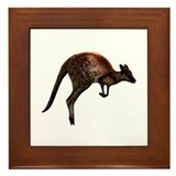 Hopping Kangaroo Framed Tile