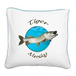 Tiger musky Square Canvas Pillow