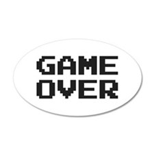 GAME OVER Wall Decal