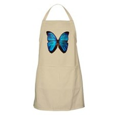 blue butterfly two Apron