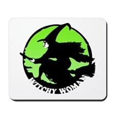 Witchy Woman (Green) Mousepad