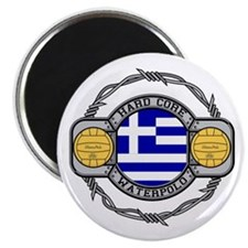 "Greece Water Polo 2.25"" Magnet (100 pack)"
