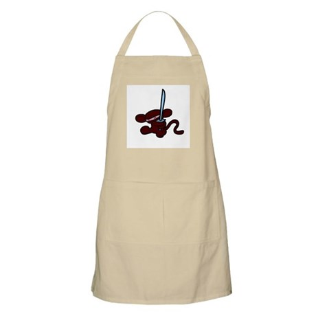 Red Minky kick BBQ Apron