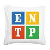 entp.png Square Canvas Pillow
