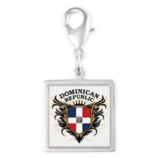 Dominican Republic Silver Square Charm