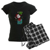 Christmas Tree Santa Joy Love pajamas