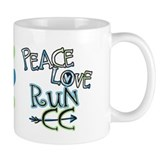 Peace Love Run CC Small Mugs