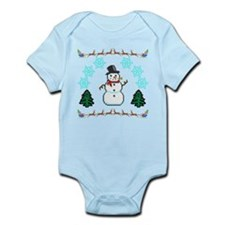 Ugly Holiday Sweater Funny Infant Bodysuit