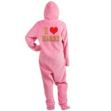 I LOVE HARRY! Footed Pajamas