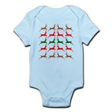 Prancing Reindeer Ugly Holiday Sweater Style Infan