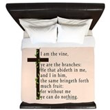 John 15 5 King James Bible Verse King Duvet