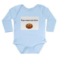 Vegan women taste better Long Sleeve Infant Bodysu