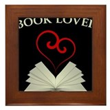 Book Lovers Stuff Logo Framed Tile